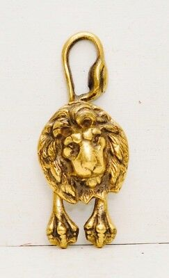 Vintage Brass Lion Head Door Knocker Art Nouveau Antique Gold Victorian Paws