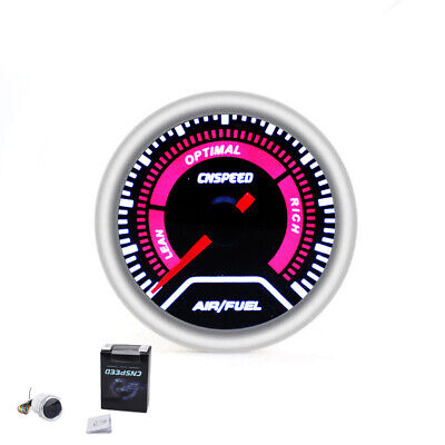 Universal 2'' 52MM Red LED Digital Car Auto Air Fuel Ratio Monitor Racing Gauge