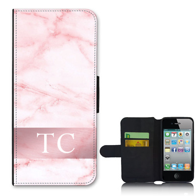 timeless design 553a4 c98ec FOR IPHONE 7 PLUS Wallet Flip Phone Case PERSONALISED Initial Pink ...