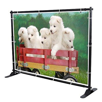 10' Telescopic Banner Stand Step and Repeat Adjustable Backdrop Wall Exhibito...