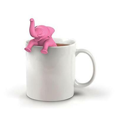 Silicone Elephant Diffuser Infuser Loose Tea Leaf Strainer Herbal Spice Filter N