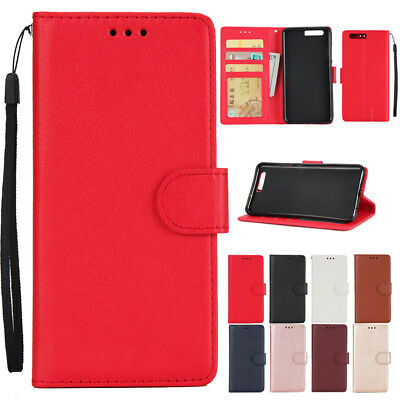 New Lurxury Magnetic Buckle Leather Wallet Slot Stand Flip Cover Case For Huawei