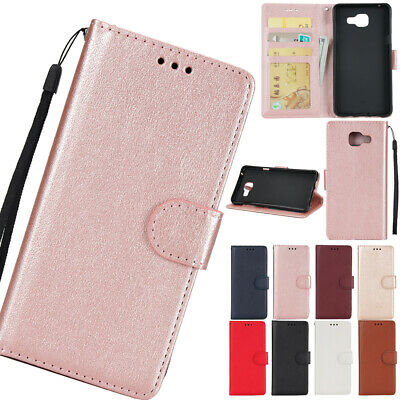 For Samsung Galaxy A7 A5 Flip Genuine Leather Magnetic Wallet Case Stand Cover