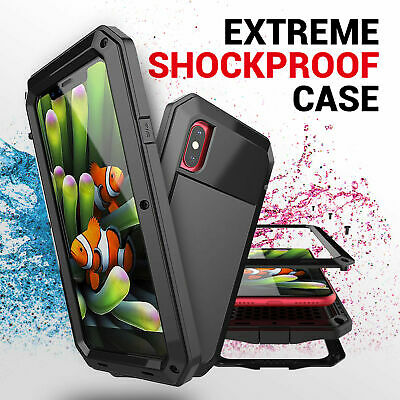 Extreme Shock Proof Heavy Duty Hard Case Cover Black for iPhone X 5 7 8 6 Plus