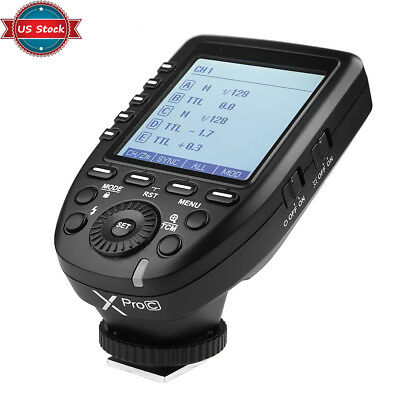 US Stock Godox XPro-C 2.4G E-TTL Wireless Flash Trigger For Canon EOS Cameras