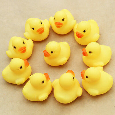 10PC Squeezing Call Rubber Duck Ducky Duckie Baby Shower Birthday Favors