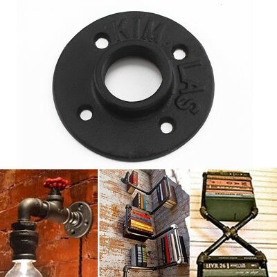 """Malleable Iron Pipe Fittings Wall Floor Flange Rusty Industrial 1"""" 1/2"""" 3/4"""" BSP"""