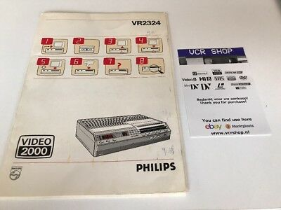 Manual: Philips VR2324 Video2000 V2000VCC - NL