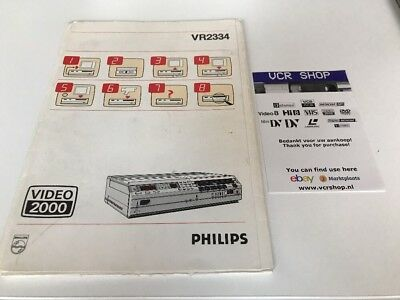 Manual: Philips VR2334 Video2000 V2000VCC - NL