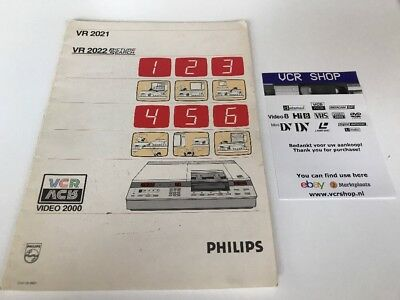 Manual: Philips VR2021 VR2022 Video2000 V2000VCC - NL