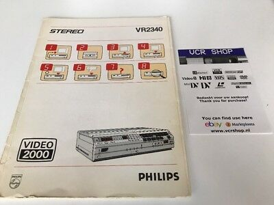 Manual: Philips VR2340 Video2000 V2000VCC - NL
