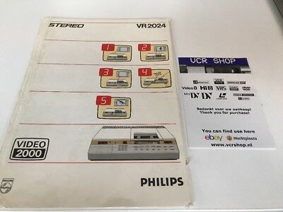 Manual: Philips VR2024 Video2000 V2000 VCC - NL