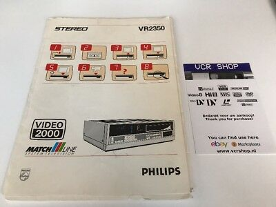 Manual: Philips VR2350 Video2000 VCC V2000