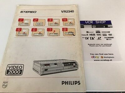 Manual: Philips VR2340 Video2000 V2000 VCC - NL