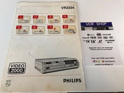 Manual: Philips VR2334 Video2000 V2000 VCC - NL