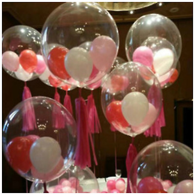 Clear 5 Balloons Latex X Christmas Qualatex Assorted 18 Stuffing R5jL4A
