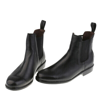 Premium Kids Equestrian Ankle Boots Horse Riding Pull On Footwear Shoes 29