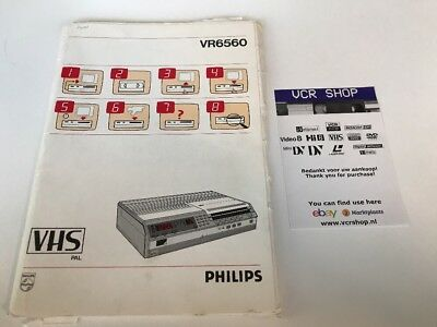 Manual: Philips VR6560 VHS (COMPLETE)- DE, FR, NL, IT, ES, ES, NO, DK, SE, FI