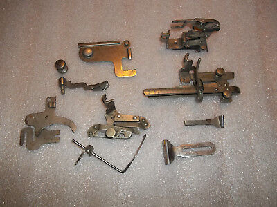 Singer Early 66 Sewing Machine Attachments Lot Tucker Ruffler - Puzzle Box?