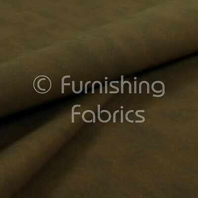 Aged Finished Matte Leather Leatherette Suede Brown Vinyl Upholstery Fabric