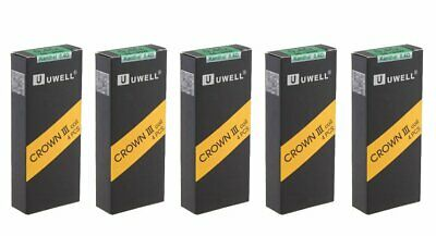 UWELL CROWN 3 COILS 0.25 | 0.4 | 0.5 Ohm Genuine Replacement Coil Heads (Pk 4)