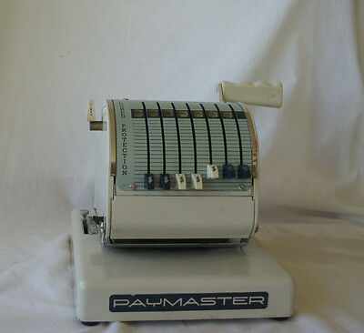 Vintage Paymaster Series X-550 Check Writer 7 Column with Key-WORKS