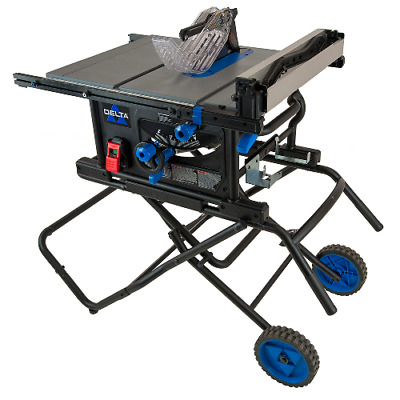 NEW DELTA 36-6022 10 in. Left Tilt Portable Table Saw 30 in. Rip with folding st