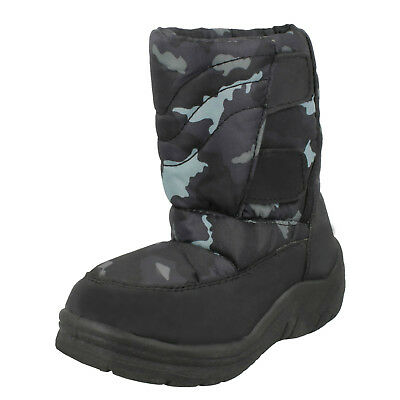 WHOLESALE Boys Padded Snow Boots / Sizes 6x13 / 15 Pairs / 8.998876