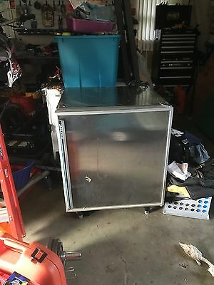 under countertop freezer. coil is in the shelves. Adjustable height. Make offer.