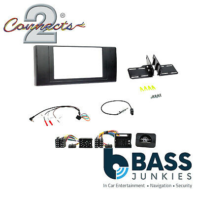 CT24BM09 Car Stereo Double Din Fascia Panel Adaptor For BMW X5 E53 2000-2006