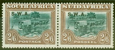 South West Africa 1927 2s6d Green & Brown SG65 Fine & Fresh Lightly Mtd Mint