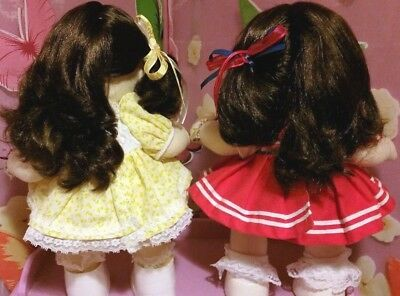 2 My Child Doll's Both Brunette/Brown Eyed & Fully Dressed Original Dresses+More