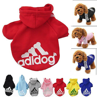 Casual Sweatshirt Winter Adidog Pet Dog Clothes Warm Hoodie Coat Jacket Clothing