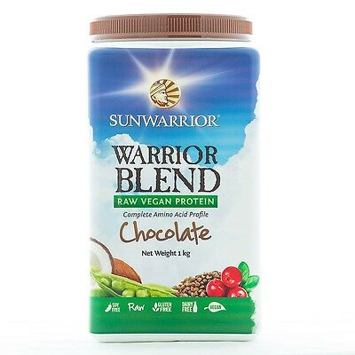 Sunwarrior Warrior Blend Protein Chocolate 1kg - Brand New - Faulty Packaging