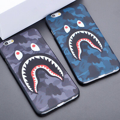Shark  Camouflage Bape Back Hard Phone Case Cover For iPhone SE 5s 6s 6 7 8 Plus