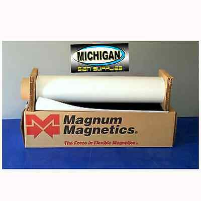"""White Matte .030 x 24"""" x 1' Magnum Magnetic Sign Blanks~Great for Vehicles~"""