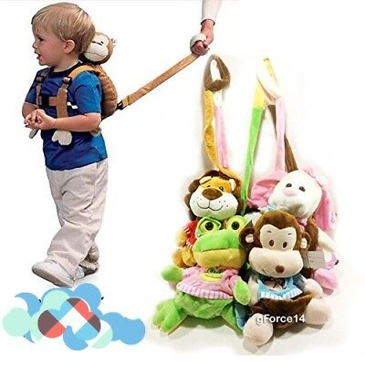 Monkey Kids Toddler Safety Anti Lost Harness Leash Walk Keeper Plush Backpack