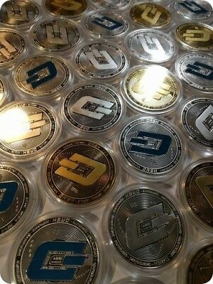 3 DASH Collectable Coins - Physical DASH Coins - Gold & Silver Plated