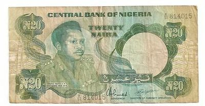1938-1978 Central Bank of Nigeria  N20 Bank Note