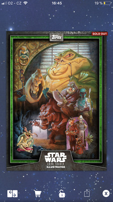 Topps Star Wars Digital Card Trader CTI Jabba The Hutt Green