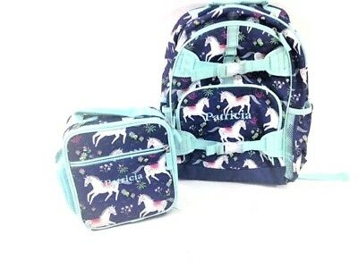 Little Girl Pottery Barn Kids Horse  Backpack Back Pack Lunch Box Set Patricia
