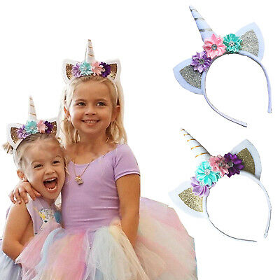 Unicorn Horn Head Party Kid Hair Headband Dress Cosplay Decorative Xmas Newly