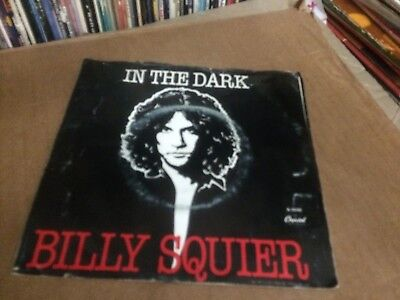 """Billy Squier In The Dark Pic Sleeve With Vinyl 45 7""""  P"""