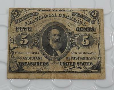 1863 Fractional Currency 5 Five Cents 3rd Issue 1864-1869 Note P0108