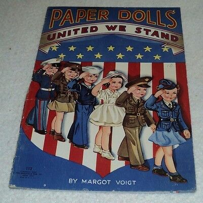 Paper Dolls United We Stand 1943 The Saalfield Pub Co. Usa Rare Wwii 113 Ohio