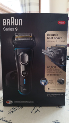 Open box Braun Series 9 9240s Men's Electric Foil Shaver with two years warranty