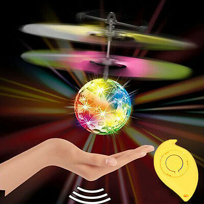 UK RC Flying Heli Ball Drone LED Flashing Light Crystal Aircraft Helicopter Toy