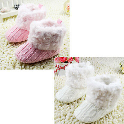 FP Infant Baby Crochet/Knit Fleece Boots Girl Wool Snow Shoes