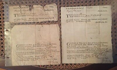 Historical Documents (2) 1764 Va., TG Peachy, Peyton-Randolph House Owner