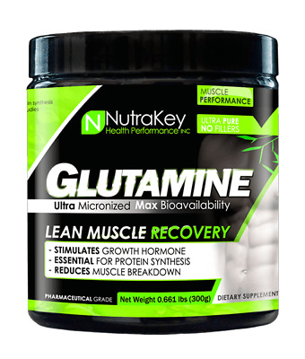 Nutrakey L-Glutamine Powder 300g (Muscle Recovery) + Same Day FREE SHIPPING!
